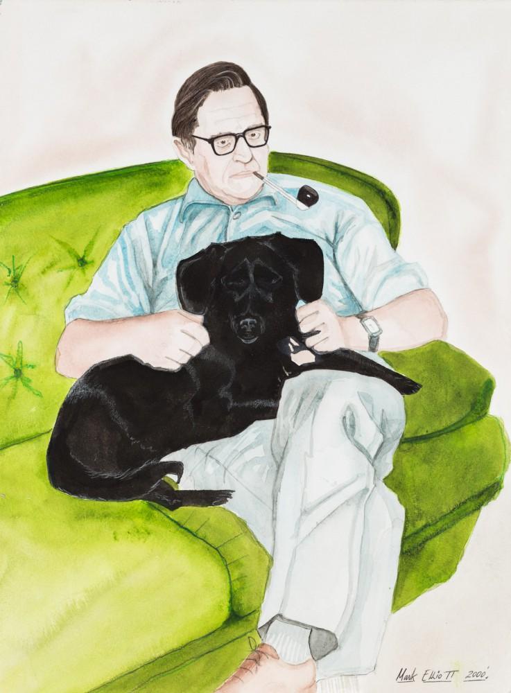 Portret z psem i fajką