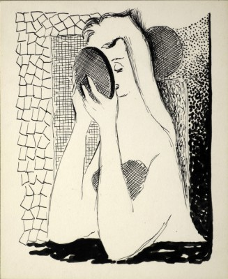 Kobieta przed lustrem