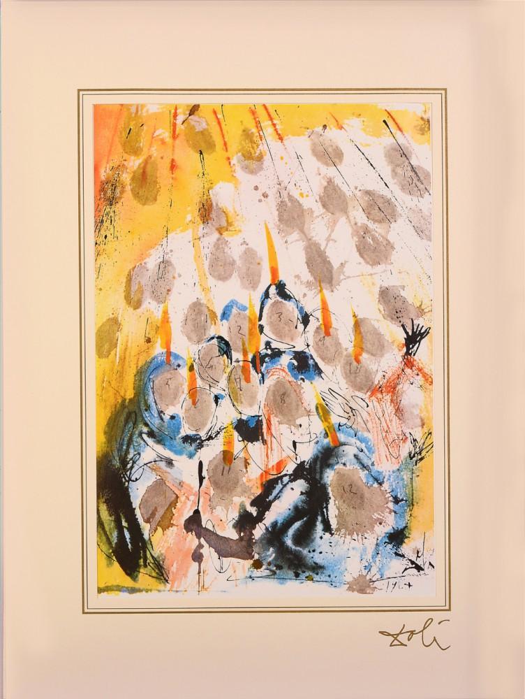 "Apparuerunt illis dispertitae linguae (Acts 1:14) z teki ""40 Paintings of the Bible"""