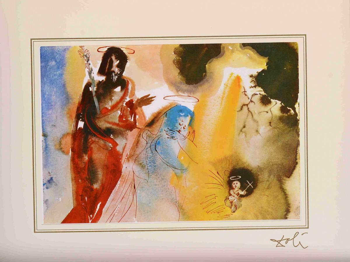 "Iesu nativitas (Matthew 1:20) z teki ""40 Paintings of the Bible"""