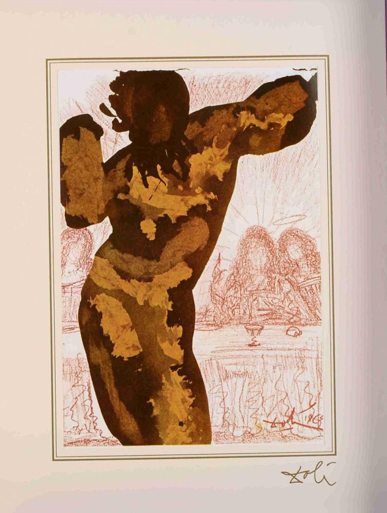 "Et post buccellam introivit in eum satanas (Psalms 40:10)z teki ""40 Paintings of the Bible"""