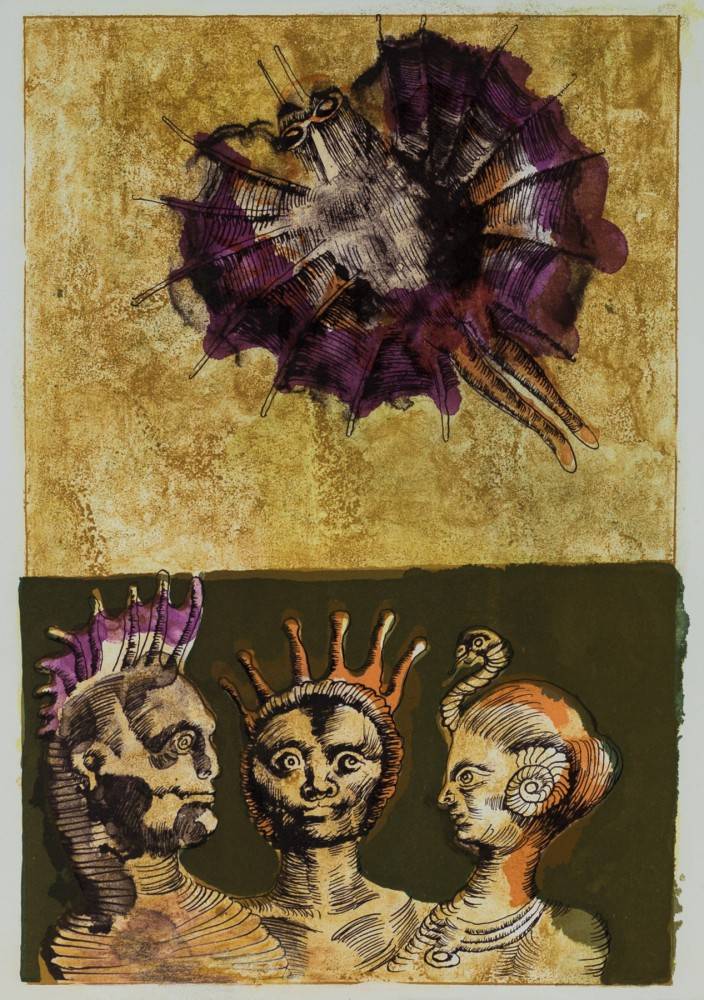 Trzy figury. Ilustracja poezji Eugenio Montale