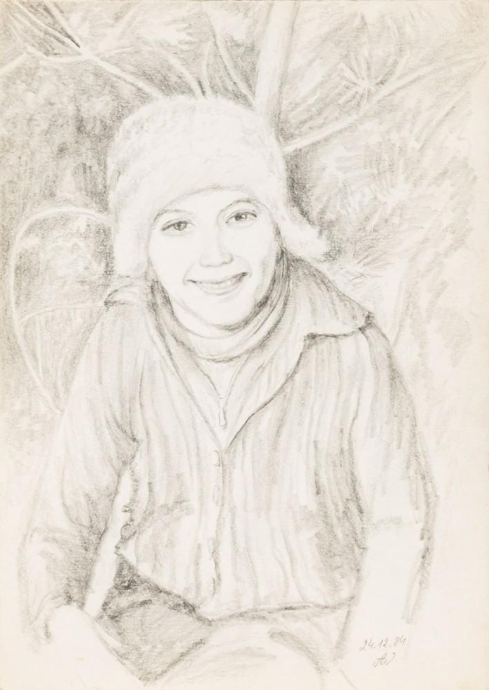Bez tytułu (portret w czapce)